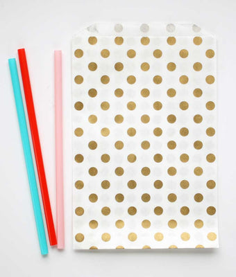 Gold Dot Favor Bags - Large