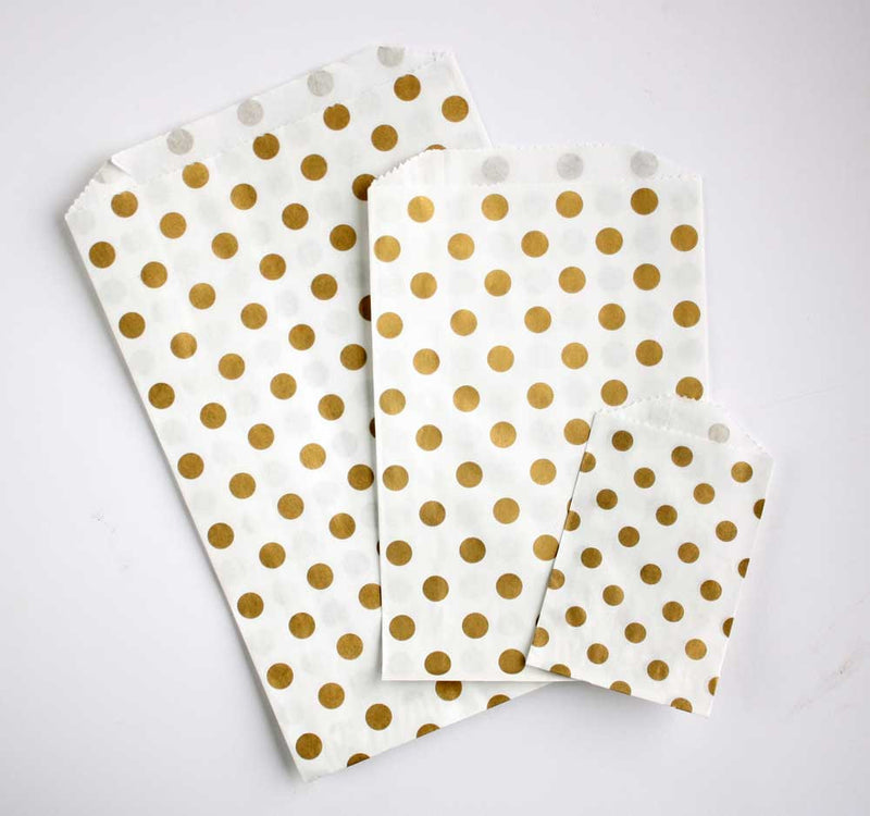 Gold Dot Favor Bags - Medium