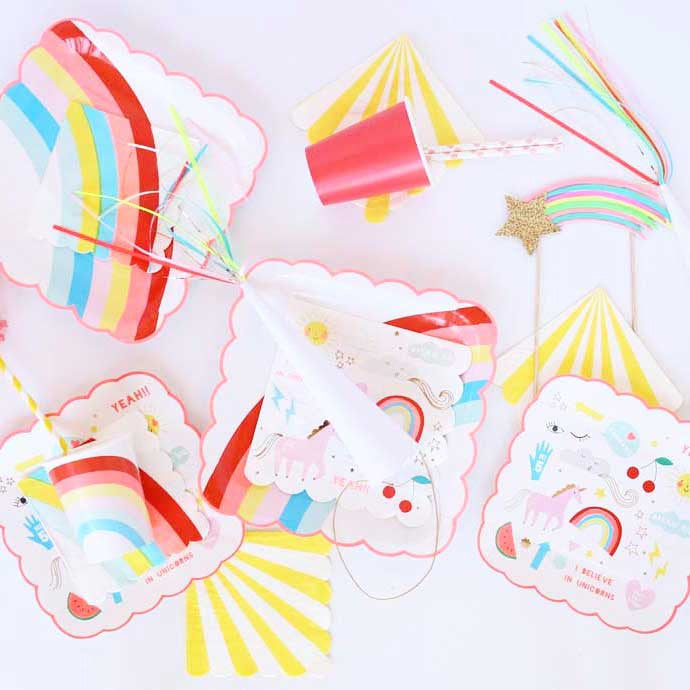 Rainbow Party Napkins - Small
