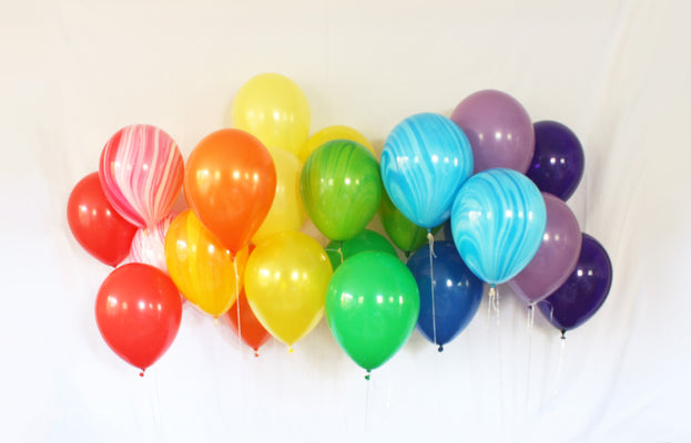 Rainbow Latex Balloon Set - 11""