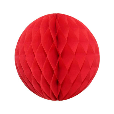 Red Honeycomb Ball - 8""