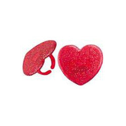 Heart Ring Party Favors or Cupcake Toppers