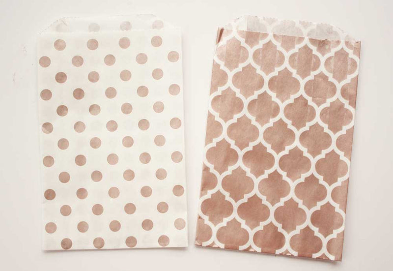 Rose Gold Dot Favor Bags - Medium