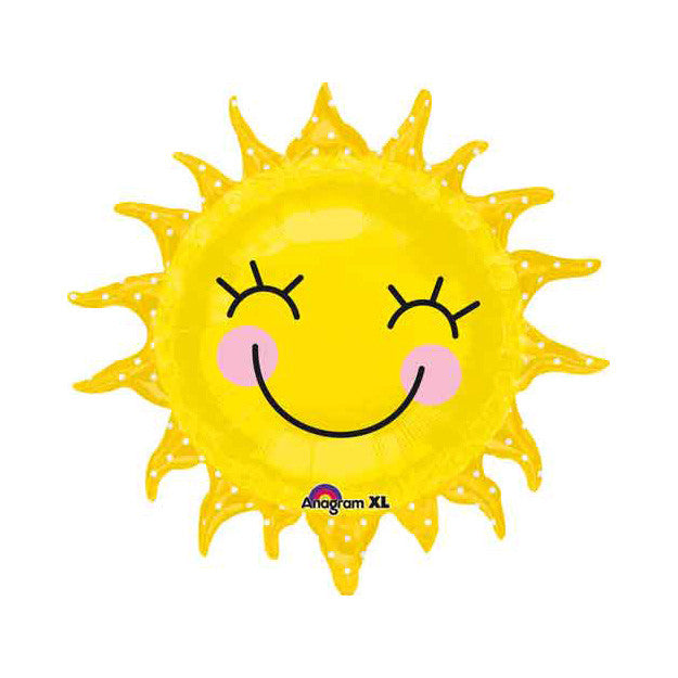 Smiling Sun Balloon - Mylar