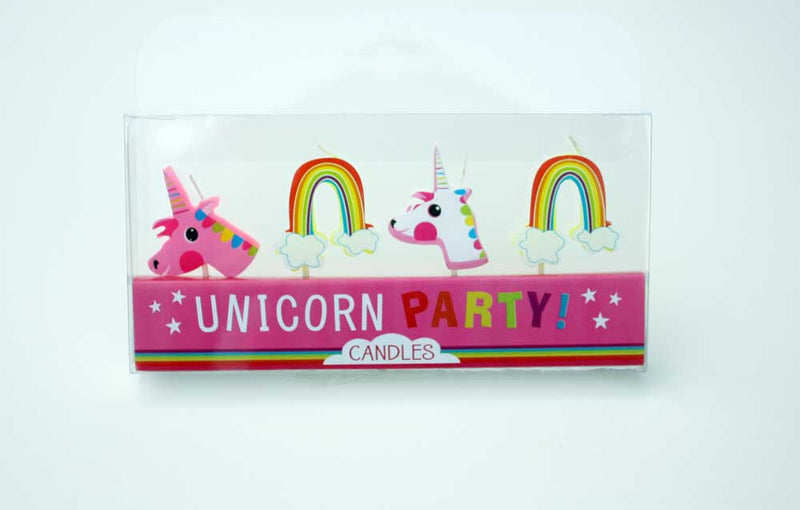 Unicorn and Rainbow Candles - Small