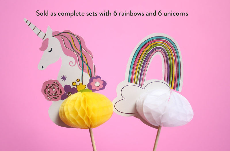 Unicorn and Rainbow Picks
