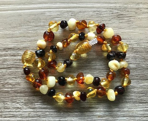 Amber Teething Necklaces Child Size