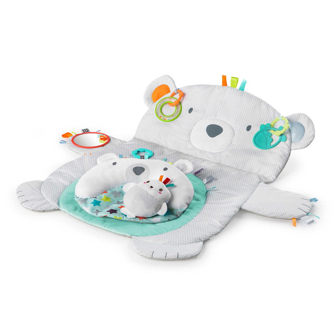 Tummy Time Prop & Play - Grey Bear