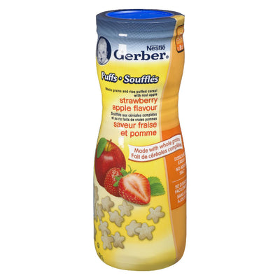 NESTLE GERBER CEREAL PUFFS STRAWBERRY APPLE 42 G