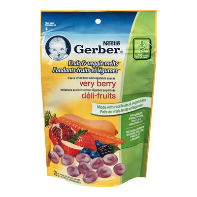 NESTLE GERBER SNACKS VERY BERRY FRUIT VEGGIE MELTS 28 G