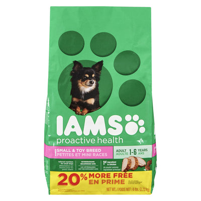 IAMS PROACTIVE HEALTH DOG NUTRITION SMALL TOY BREED CHICKEN ADULT MORE 2.72 KG