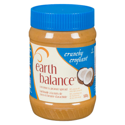 EARTH BALANCE SPREAD COCONUT PEANUT CRUNCHY 500 G