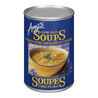 AMY'S LOW FAT SOUPS NO CHICKEN NOODLE 398ML