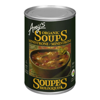 AMY'S ORGANIC SOUPS MINESTRONE 398ML