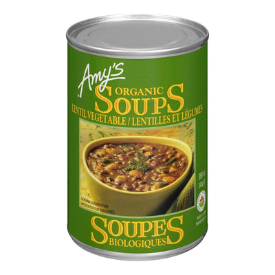AMY'S ORGANIC SOUPS LENTIL VEGETABLE 398ML