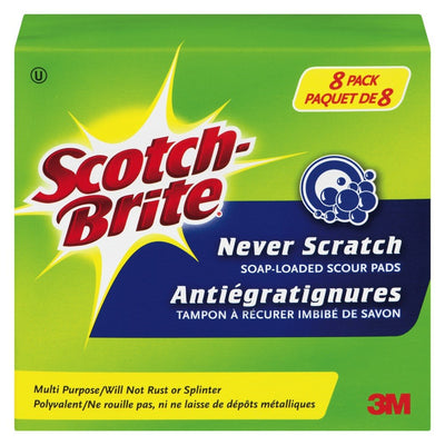 SCOTCH BRITE TAMPONS À  RÉCURER 8 UN