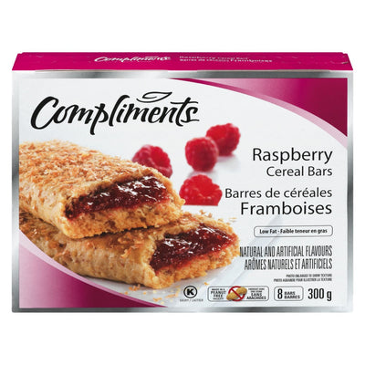 COMPLIMENTS FRUITS BARS RASBERRY 300 G