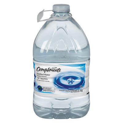 COMPLIMENTS DISTILLED WATER 4 L