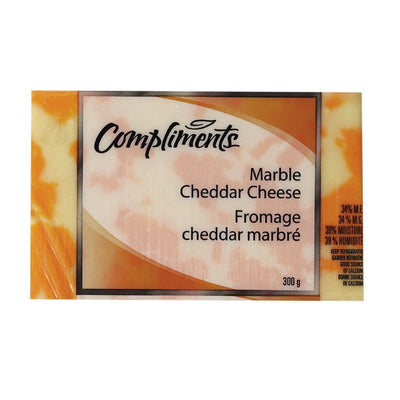 COMPLIMENTS FROMAGE CHEDDAR DOUX MARBRE 300 G