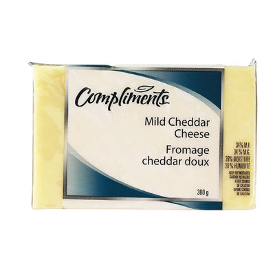 COMPLIMENTS FROMAGE CHEDDAR DOUX BLANC 300 G