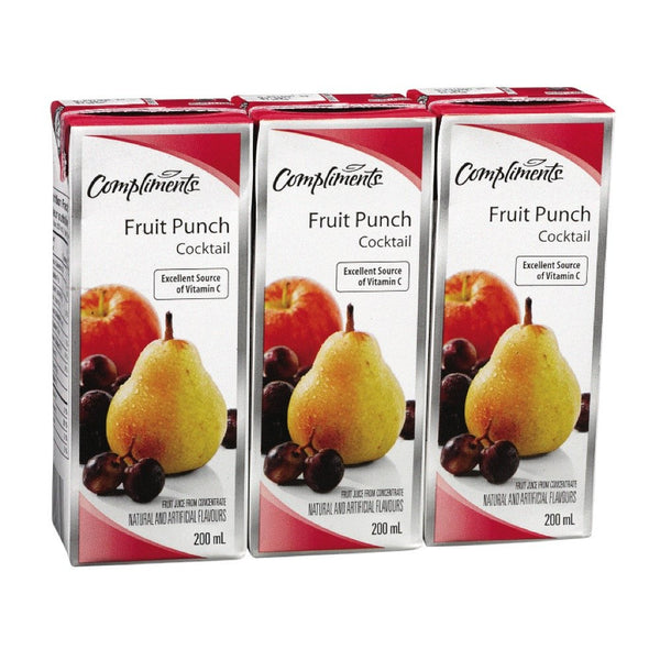 COMPLIMENTS JUS PUNCH AUX FRUITS 3X200 ML