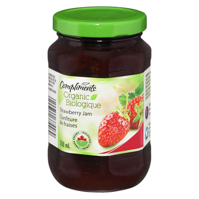 COMPLIMENTS ORGANIC JAM STRAWBERRY 250 ML