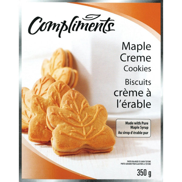 COMPLIMENTS BISCUITS CRM FEUILLE ERABLE 350 G