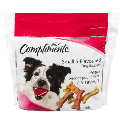 COMPLIMENTS DOG BISCUITS 5 FLAVOURED 900 G