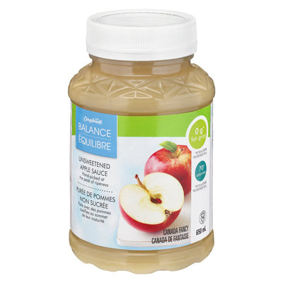 COMPLIMENTS BALANCE APPLE SAUCE UNSWEETENED 650 ML