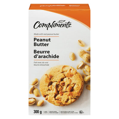 COMPLIMENTS PEANUT BUTTER COOKIES 300G