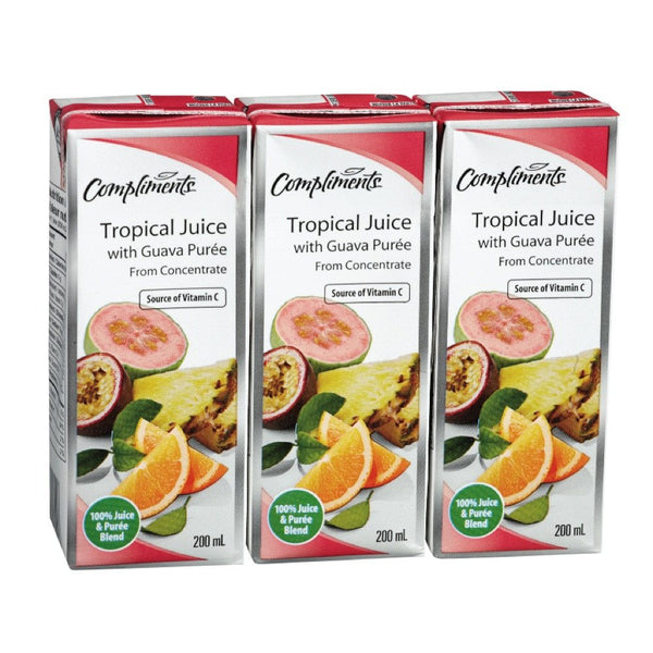 COMPLIMENTS JUS TROPICAL GUAVA 3X200 ML