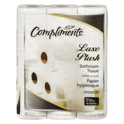 COMPLIMENTS PAPIER HYGIENIQUE LUXE PLUSH165F 12 UN