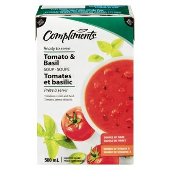 COMPLIMENTS SOUP TOMATO AND BASIL 500 ML
