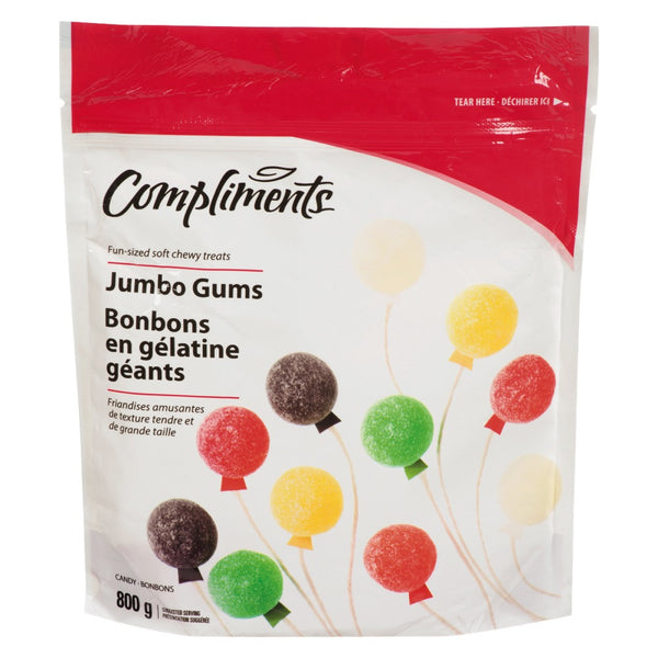 COMPLIMENTS BONBONS GOMMES JUMBO 800G