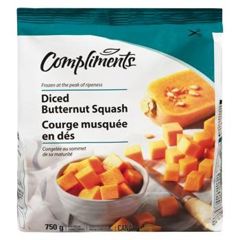 COMPLIMENTS BUTTERNUT SQUASH DICED 750 G