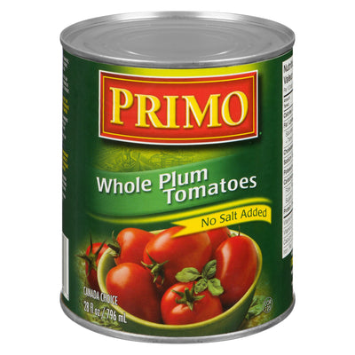 PRIMO WHOLE TOMATOES NO SALT ADDED 796 ML