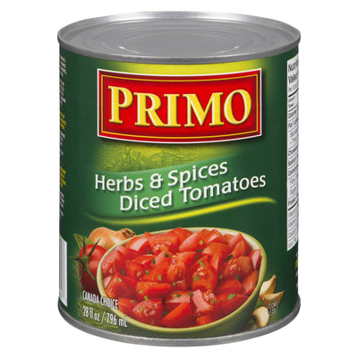 PRIMO DICED TOMATOES WITH HERBS 796 ML