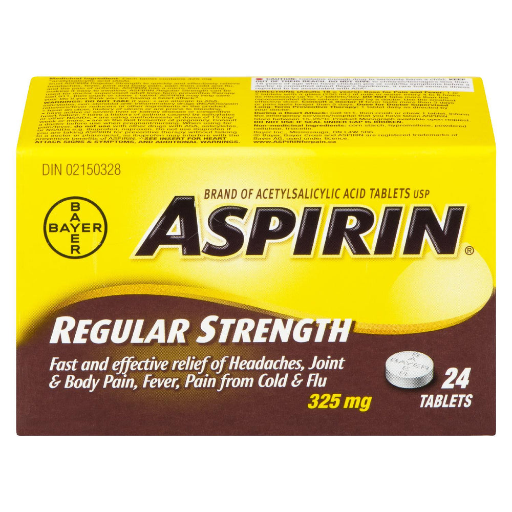 ASPIRIN ACETYLSALICYLIC ACID 325MG REGULAR HEADACHES 24 U
