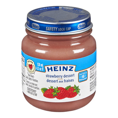 HEINZ BABY FOOD STRAWBERRY DESSERT 128 ML