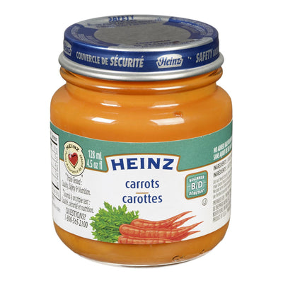 HEINZ BABY FOOD CARROTS 128 ML