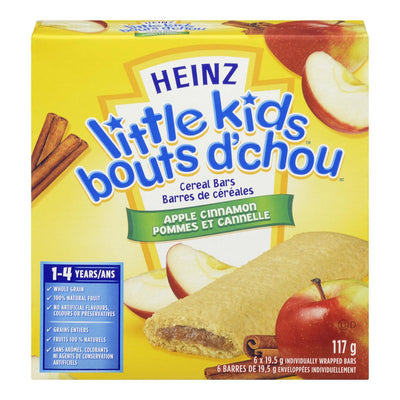 HEINZ LITTLE KIDS CEREAL BARS APPLE CINNAMON 6S 117 G