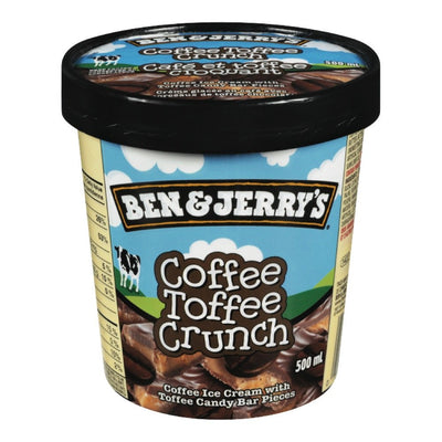 BEN & JERRY'S CRÈME GLACE VOFFEE TOFFEE CRUNCH 500 ML