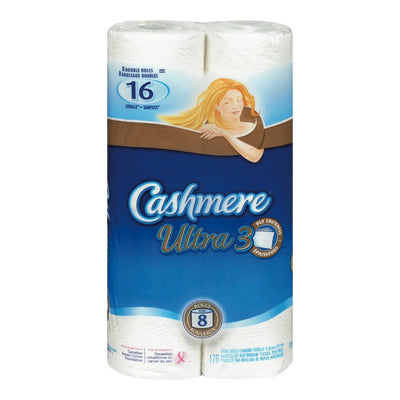 CASHMERE PAPIER HYGIENIQUE ULTRA DOUBLE 3P 187F 8 UN