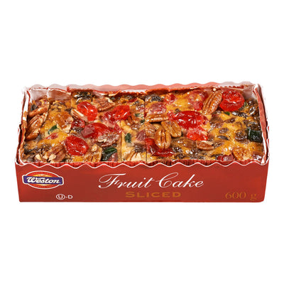 WESTON CAKE FRUIT SLICED 600 G