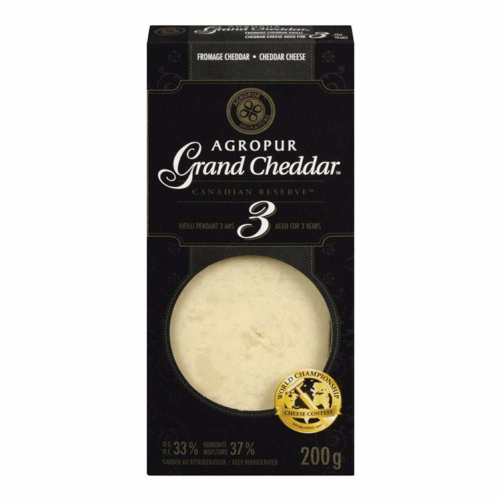 AGROPUR FROMAGE GRAND CHEDDAR 3 ANS  200 G