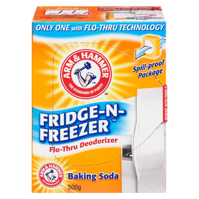 ARM & HAMMER FRIDGE-N-FREEZER BAKING SODA DEODORIZER FLO THRU 500 G