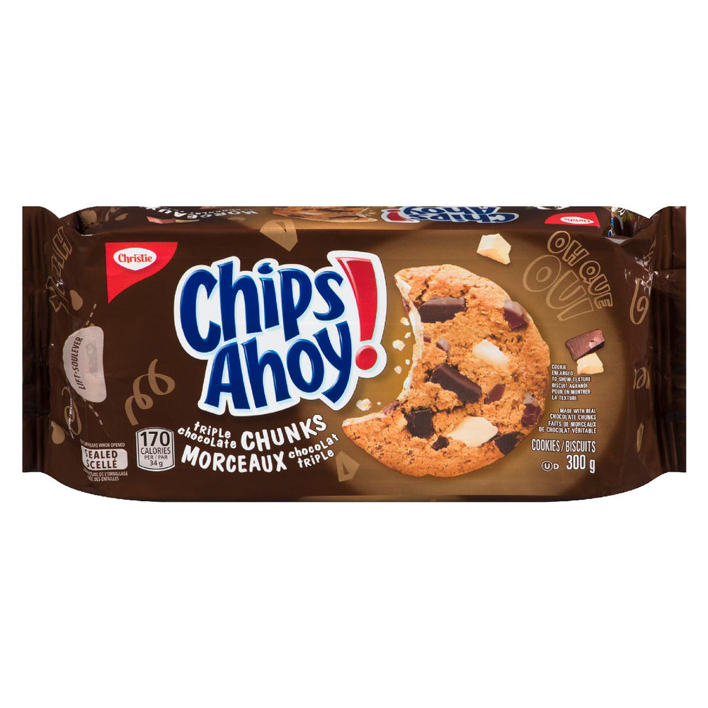 CHRISTIE CHIPS AHOY COOKIES TRIPLE CHOCOLATE CHUNKS 300 G