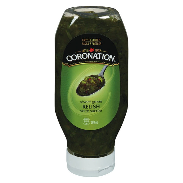 CORONATION RELISH VERTE SUCRÉE COMPRESSIBLE 500 ML