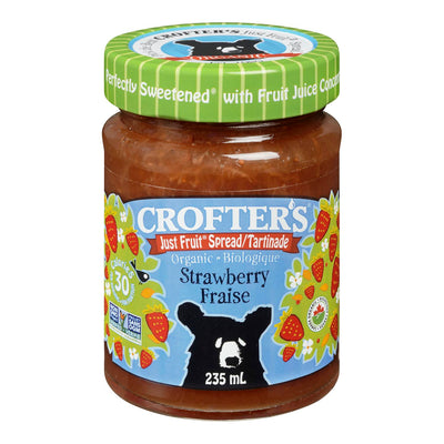 CROFTERS JUST FRUIT SPREAD STRAWBERRY ORGANIC 235 ML