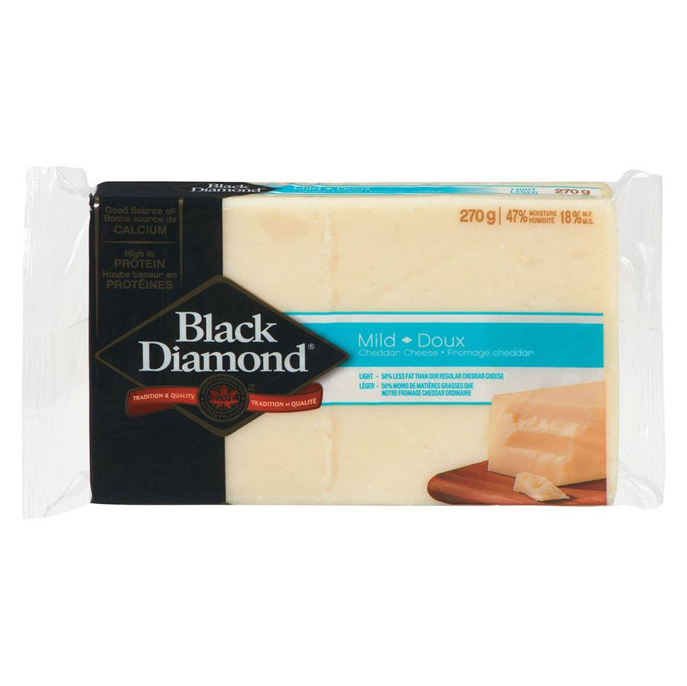 BLACK DIAMOND FROMAGE CHEDDAR BL DOUX LEGER 270 G